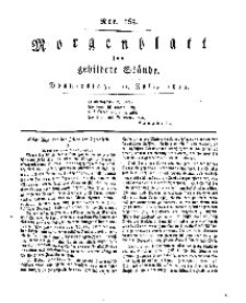 Morgenblatt für gebildete Stände, Donnerstag, 11. Juli 1811, No 165.