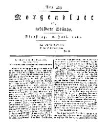 Morgenblatt für gebildete Stände, Dienstag, 16. Juli 1811, No 169.