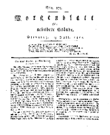 Morgenblatt für gebildete Stände, Dienstag, 23. Juli 1811, No 175.