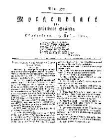 Morgenblatt für gebildete Stände, Donnerstag, 25. Juli 1811, No 177.