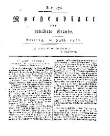Morgenblatt für gebildete Stände, Freitag, 26. Juli 1811, No 178.