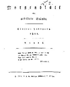Morgenblatt für gebildete Stände, Donnerstag, 1. August 1811, No 183.