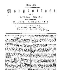Morgenblatt für gebildete Stände, Mittwoch, 7. August 1811, No 188.