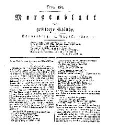 Morgenblatt für gebildete Stände, Donnerstag, 8. August 1811, No 189.