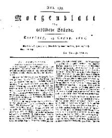Morgenblatt für gebildete Stände, Dienstag, 13. August 1811, No 193.