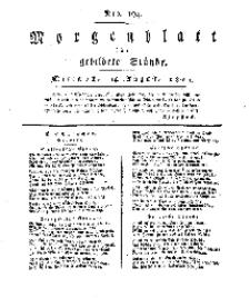 Morgenblatt für gebildete Stände, Mittwoch, 14. August 1811, No 194.