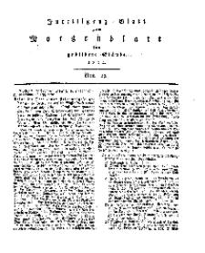 Intelligenz=Blatt zum Morgenblatt für gebildete Stände, No 19.