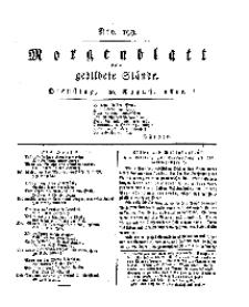 Morgenblatt für gebildete Stände, Dienstag, 20. August 1811, No 199.