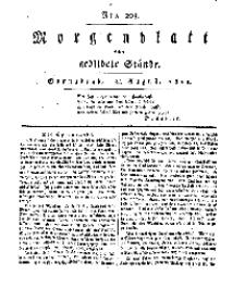 Morgenblatt für gebildete Stände, Sonnabend, 24. August 1811, No 203.