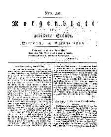 Morgenblatt für gebildete Stände, Mittwoch, 28. August 1811, No 206.