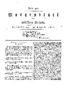 Morgenblatt für gebildete Stände, Donnerstag, 29. August 1811, No 207.