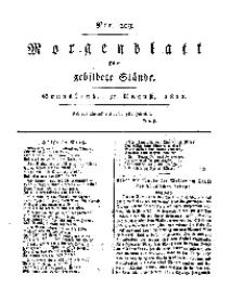 Morgenblatt für gebildete Stände, Sonnabend, 31. August 1811, No 209.