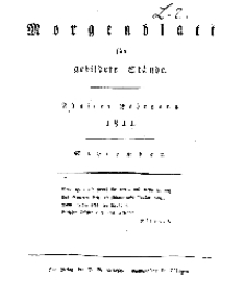 Morgenblatt für gebildete Stände, Montag, 2. September 1811, No 210.