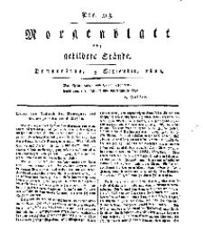 Morgenblatt für gebildete Stände, Donnerstag, 5. September 1811, No 213.