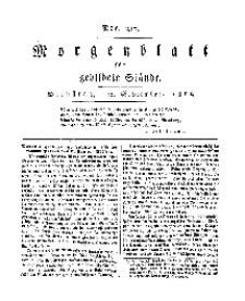 Morgenblatt für gebildete Stände, Dienstag, 10. September 1811, No 217.