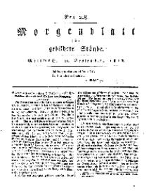 Morgenblatt für gebildete Stände, Mittwoch, 4. September 1811, No 218.