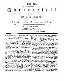 Morgenblatt für gebildete Stände, Freitag, 20. September 1811, No 226.