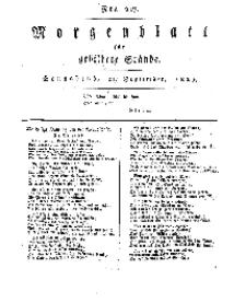 Morgenblatt für gebildete Stände, Sonnabend, 21. September 1811, No 227.