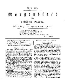 Morgenblatt für gebildete Stände, Dienstag, 24. September 1811, No 229.