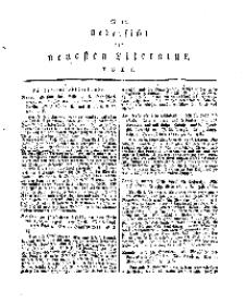 Uebersicht der neuesten Literatur, No 10.