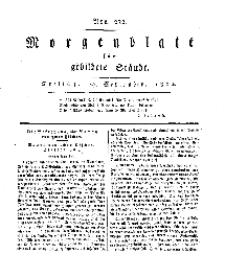 Morgenblatt für gebildete Stände, Freitag, 27. September 1811, No 232.