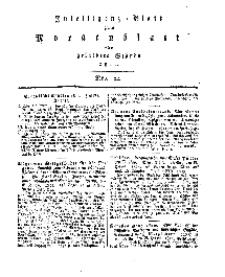 Intelligenz=Blatt zum Morgenblatt für gebildete Stände, No 22.