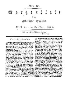 Morgenblatt für gebildete Stände, Freitag, 11. October 1811, No 244.