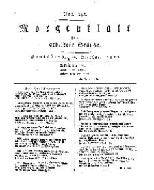 Morgenblatt für gebildete Stände, Sonnabend, 12. October 1811, No 245.