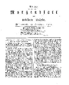 Morgenblatt für gebildete Stände, Mittwoch, 23. October 1811, No 254.
