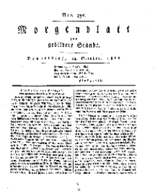 Morgenblatt für gebildete Stände, Donnerstag, 24. October 1811, No 255.