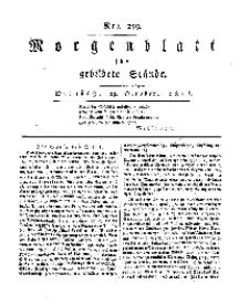 Morgenblatt für gebildete Stände, Dienstag, 29. October 1811, No 259.