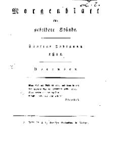 Morgenblatt für gebildete Stände, Freitag, 1. November 1811, No 262.