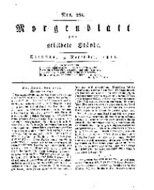 Morgenblatt für gebildete Stände, Dienstag, 5. November 1811, No 265.