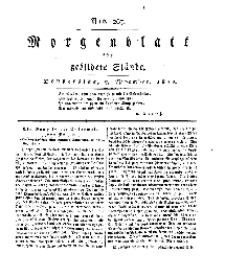 Morgenblatt für gebildete Stände, Donnerstag, 7. November 1811, No 267.