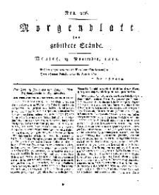 Morgenblatt für gebildete Stände, Montag, 18. November 1811, No 276.