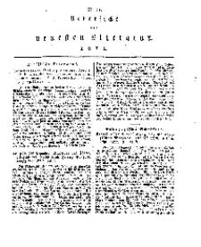 Uebersicht der neuesten Literatur, No 11.