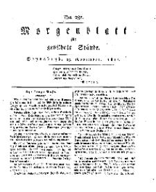 Morgenblatt für gebildete Stände, Sonnabend, 23. November 1811, No 281.
