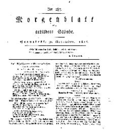 Morgenblatt für gebildete Stände, Sonnabend, 30. November 1811, No 287.