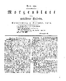 Morgenblatt für gebildete Stände, Donnerstag, 5. Dezember 1811, No 291.