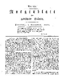 Morgenblatt für gebildete Stände, Freitag, 6. Dezember 1811, No 292.