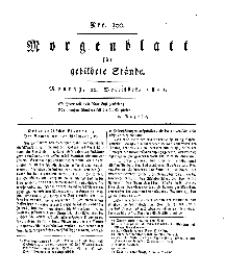 Morgenblatt für gebildete Stände, Montag, 16. Dezember 1811, No 300.