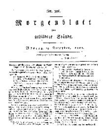 Morgenblatt für gebildete Stände, Montag, 23. Dezember 1811, No 306.