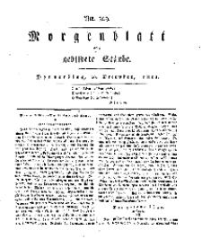 Morgenblatt für gebildete Stände, Donnerstag, 26. Dezember 1811, No 309.