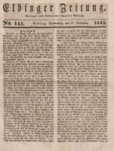 Elbinger Zeitung, No. 141 Donnerstag, 27. November 1845