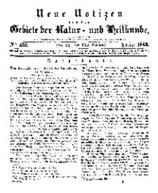 Neue Notizen aus dem Gebiete der Natur- und Heilkunde, 1842 (Bd. XXI, nr 12), Februar - No 452