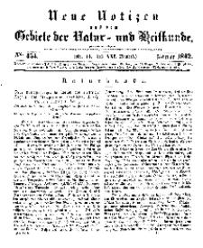 Neue Notizen aus dem Gebiete der Natur- und Heilkunde, 1842 (Bd. XXI, nr 14), Februar - No 454