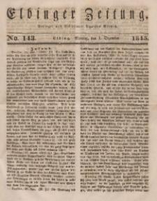 Elbinger Zeitung, No. 143 Montag, 1. Dezember 1845