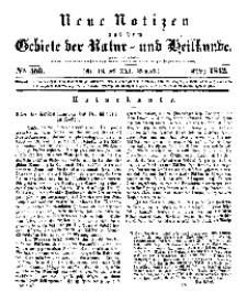 Neue Notizen aus dem Gebiete der Natur- und Heilkunde, 1842 (Bd. XXI, nr 19), März - No 459