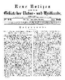 Neue Notizen aus dem Gebiete der Natur- und Heilkunde, 1842 (Bd. XXII, nr 21), Juni - No 483