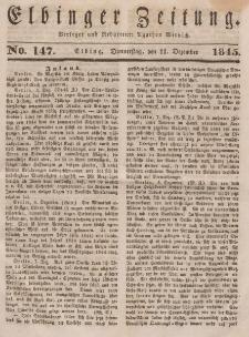 Elbinger Zeitung, No. 147 Donnerstag, 11. Dezember 1845